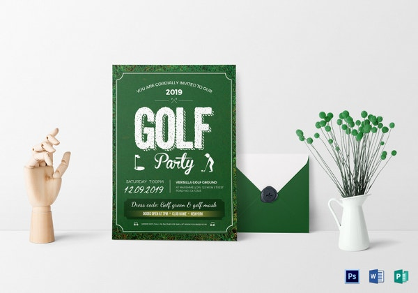 golf party invitation template2