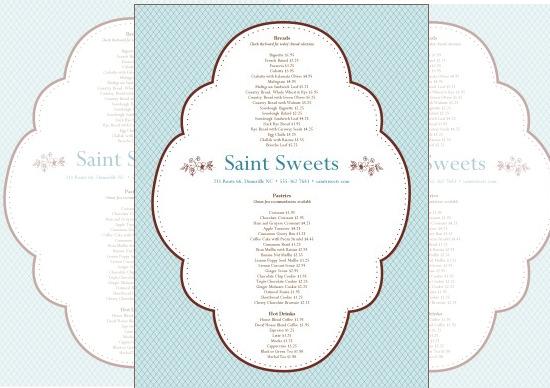 gourmet bakery menu template