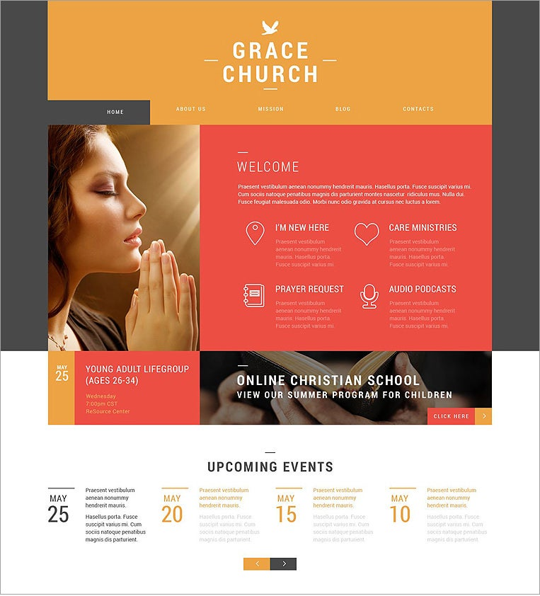 grace religious responsive wordpress theme 45