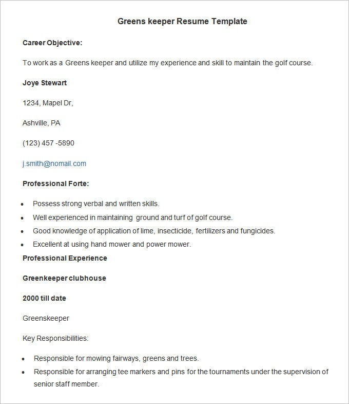 24 Agriculture Resume Templates Psd Pdf Doc Free