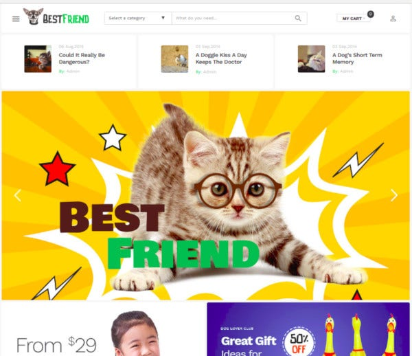 grooming pet shop woocommerce theme