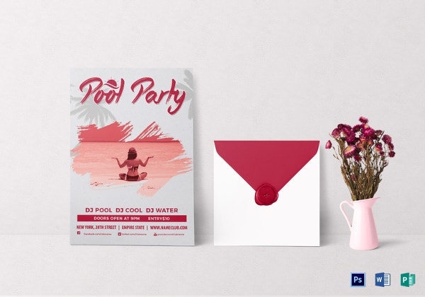 grunge-pool-party-invitation-template