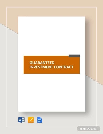 guaranteed-investment-contract-template