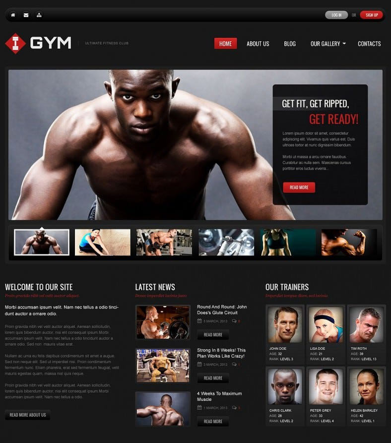 gym dark black wordpress theme 751 788x893