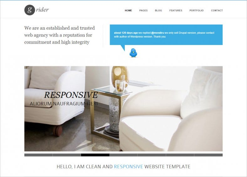HTML5 & CSS3 Responsive Drupal Template