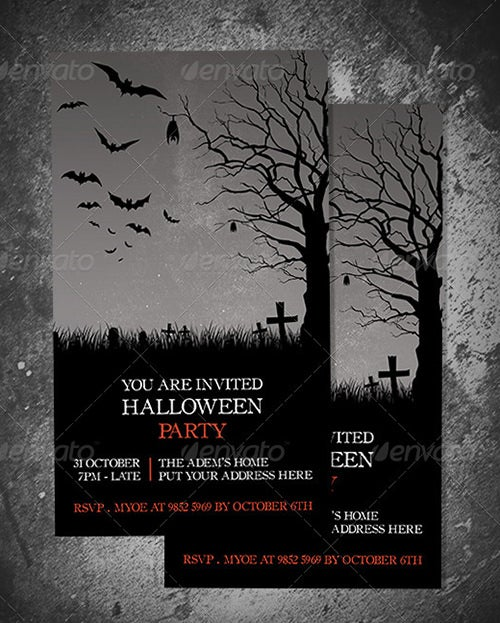 halloween party invitate template
