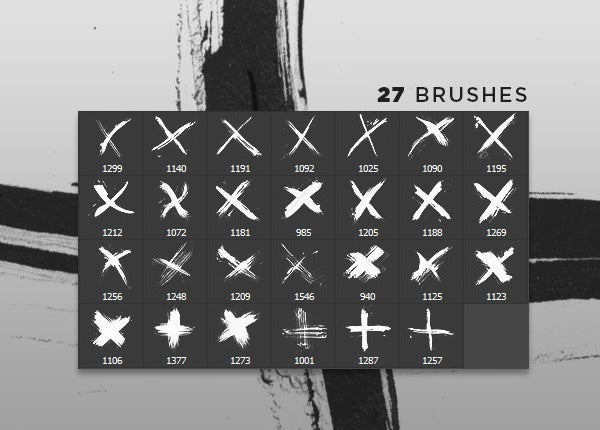 hand painted crosses photoshop brushes