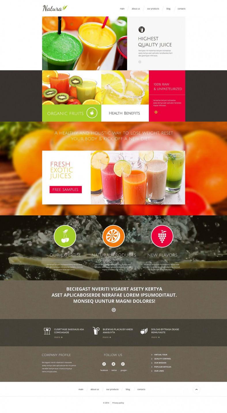 healthy tasty drink drupal template 788x1431