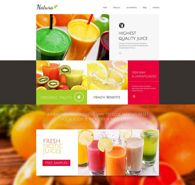 healthy tasty drink drupal template1
