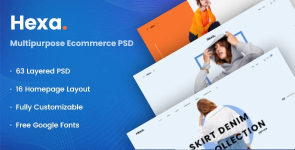 hexa multipurpose ecommerce psd template