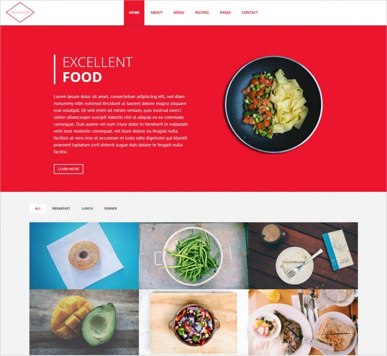 34  restaurant html5 website themes  u0026 templates