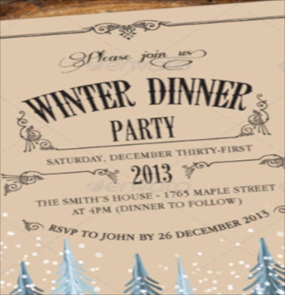 holiday dinner invitation template