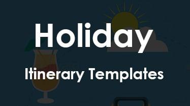 holiday itinerary templates