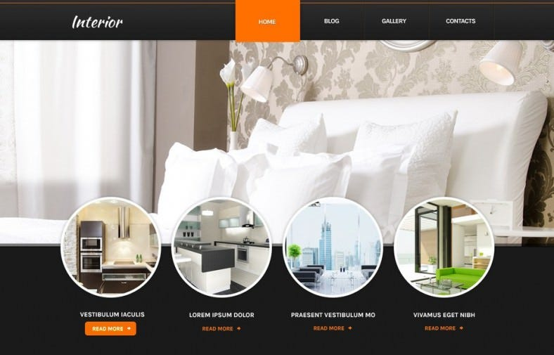 Home Interior Drupal Template