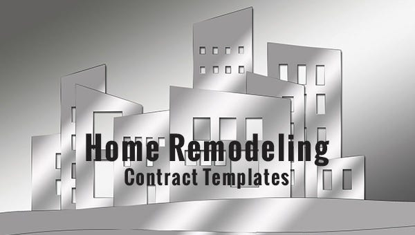 10+ Home Remodeling Contract Templates - Word, Docs, Pages ...