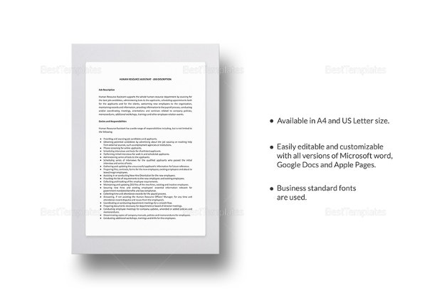 human-resources-assistant-job-description-template
