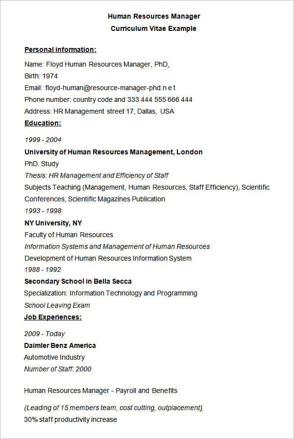 human resource coordinator resume human resource coordinator resume