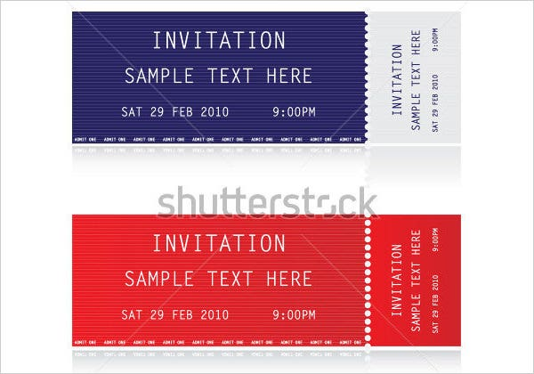 Ticket Invitation Template 55 Free PSD Vector EPS AI Format – Ticket Invitation Template