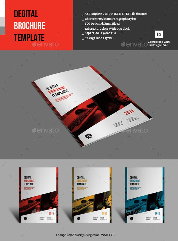 17 fresh digital brochure templates free psd vector for Cost to design a brochure
