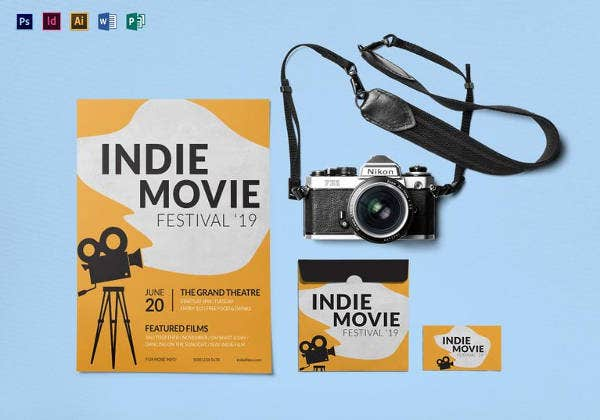 indie movie festival flyer template