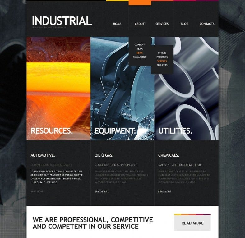 industrial drupal template 788x766