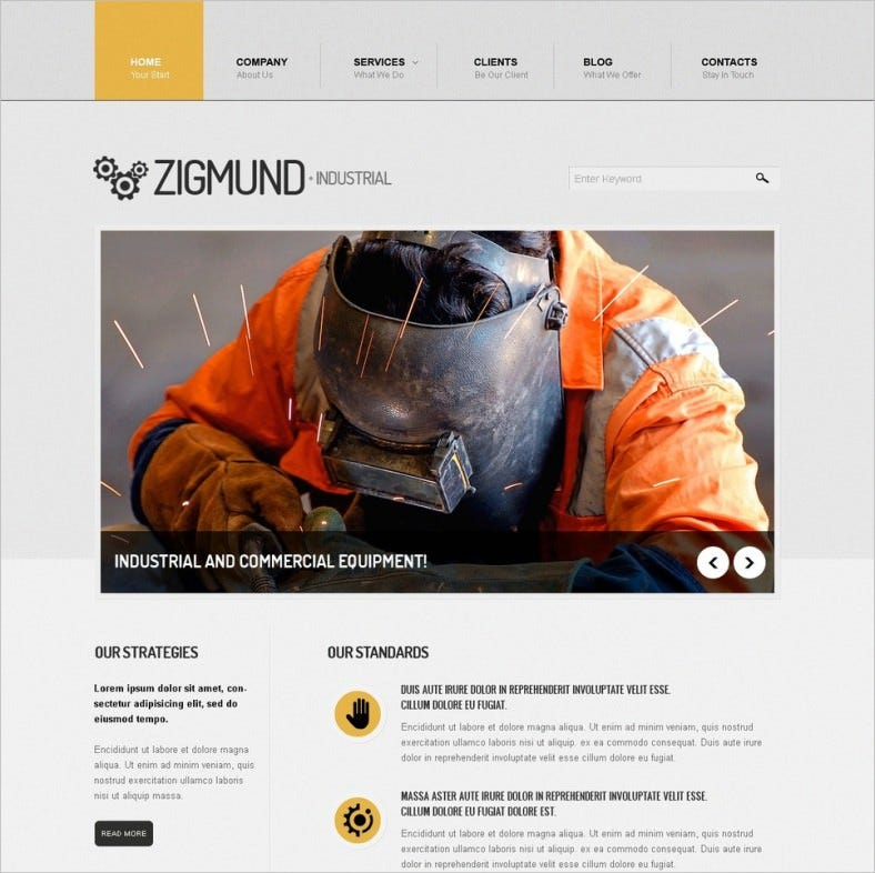 industrial manufacture drupal template 788x786