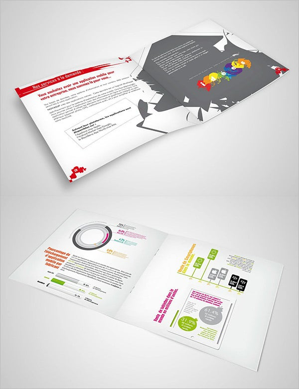 17 fresh digital brochure templates free psd vector for Information brochure template