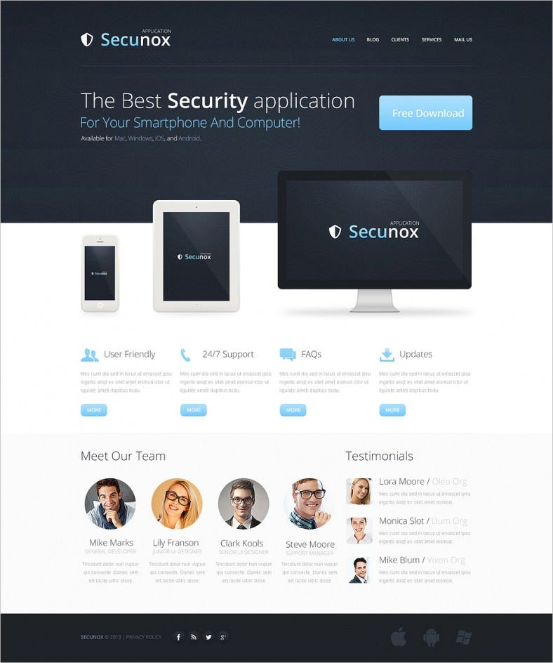 information security application drupal template 2 788x944