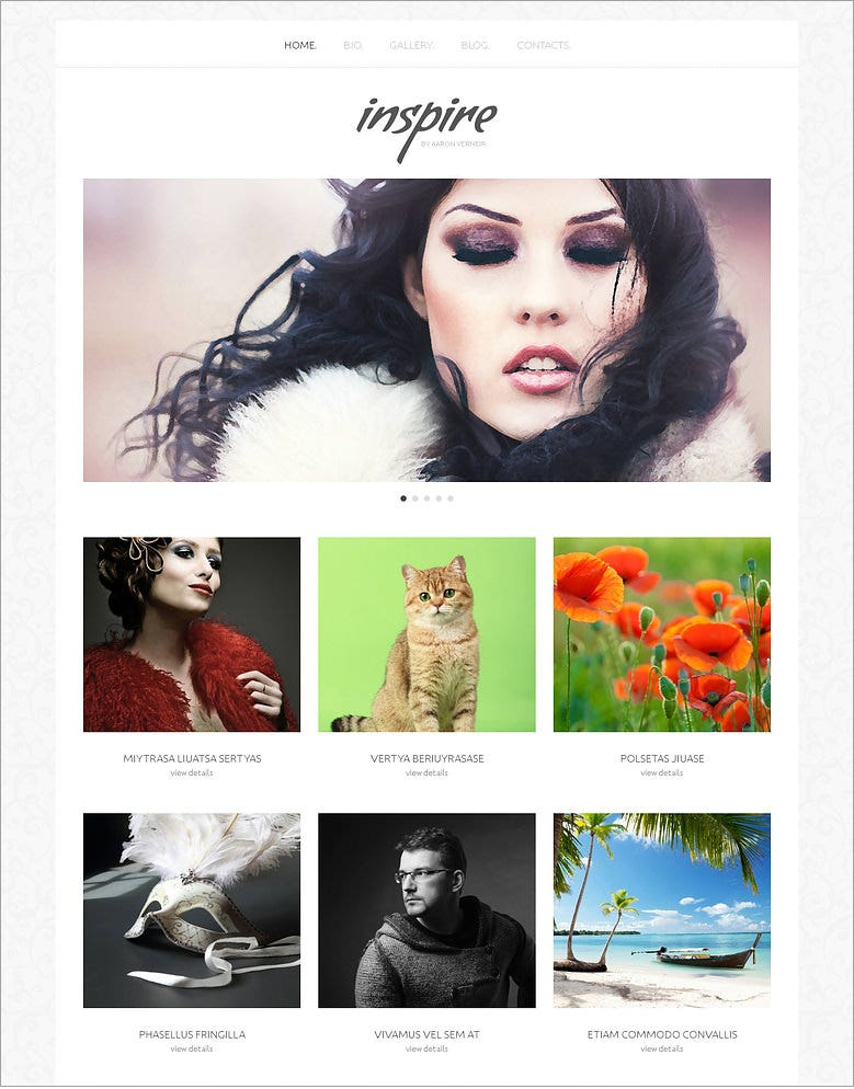 inspire artists portfolio responsive wordpress theme 75