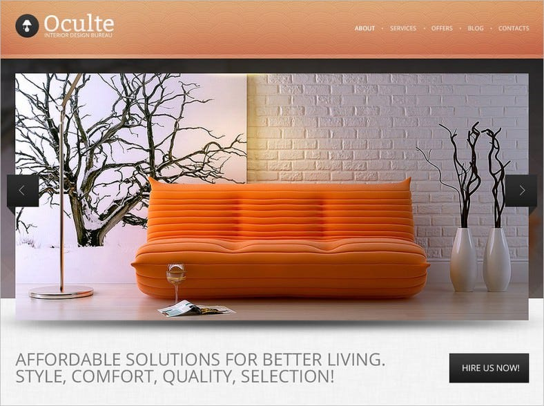 interior design drupal template 788x588