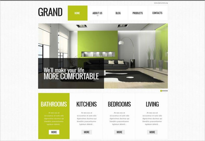 interior designs drupal theme 788x544