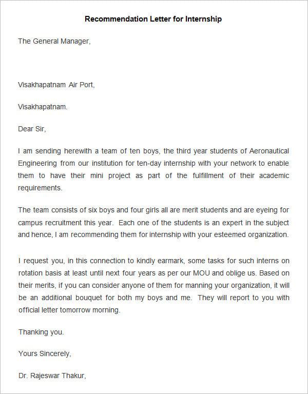Reference letter internship student spiritdancerdesigns Images