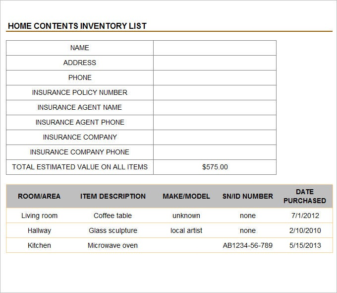 inventory management template free download