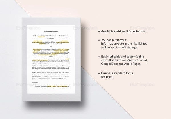 investment contract template1