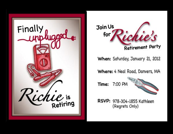 ideas free printable retirement party invitations and free ...