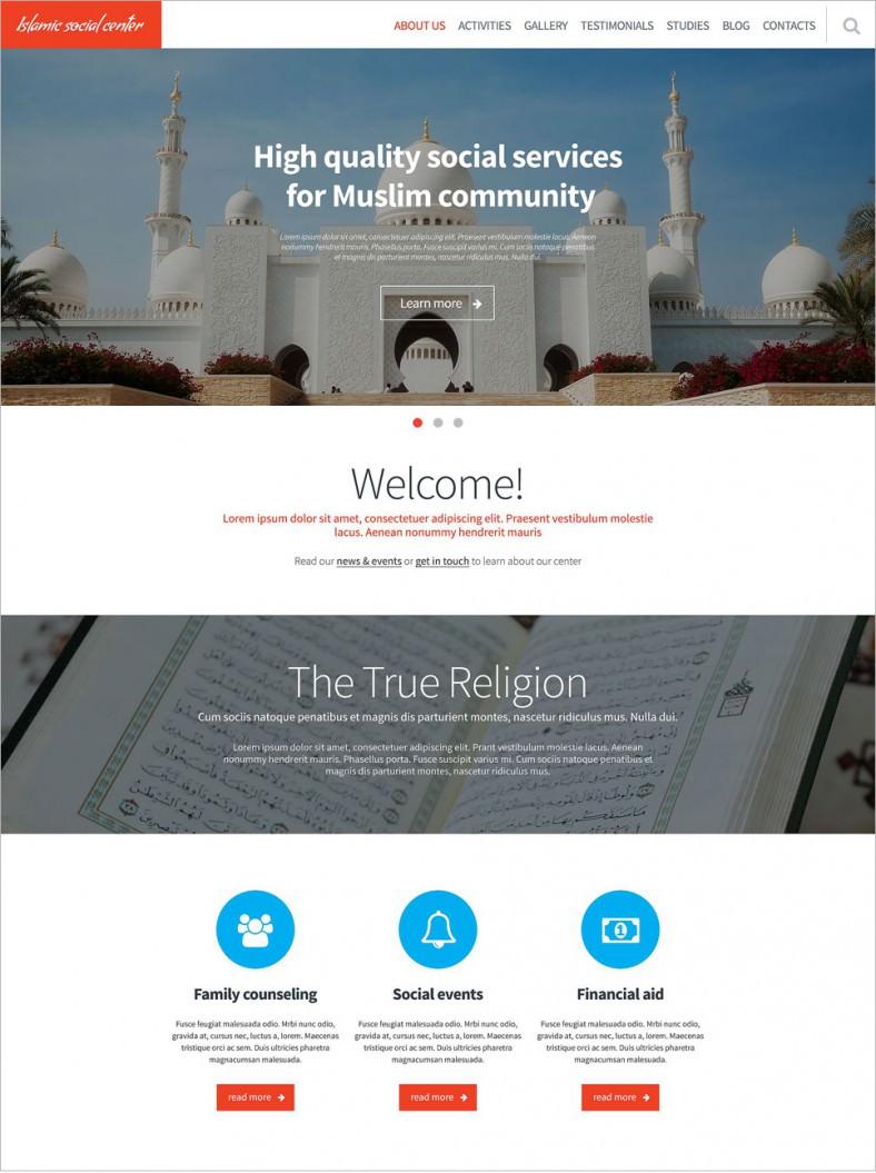 Groß Kostenlose Religiöse Website Vorlagen Galerie - Entry Level ...