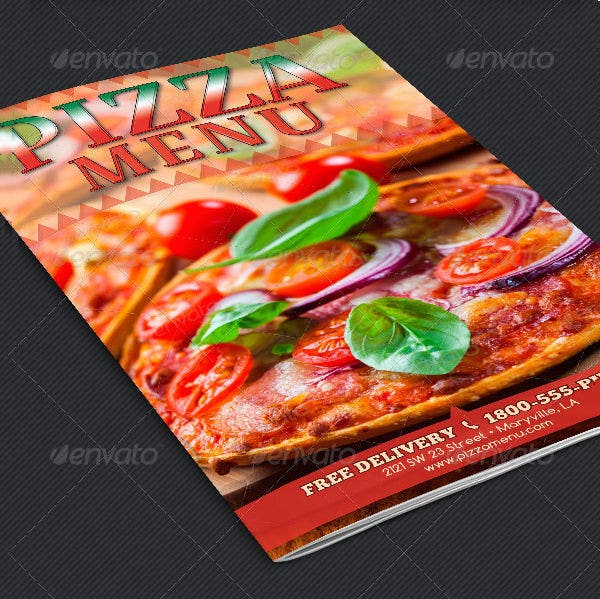 italian pizza menu template