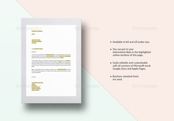 Hr invitation letter template 19 free word pdf documents job invitation letter template in google docs pages for mac stopboris Images