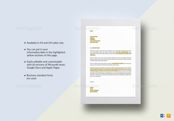 job-performance-warning-letter-template