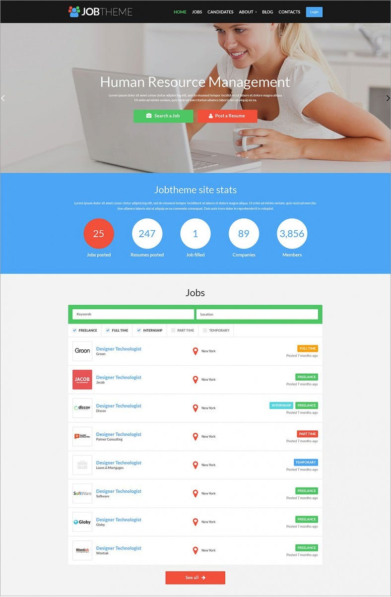 job resume responsive wordpress theme 75