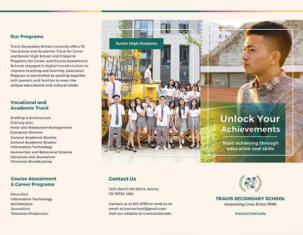 School Brochure PSD Templates Designs Free Premium Templates - High school brochure template