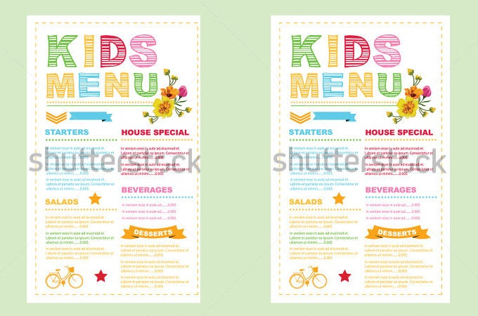 Menu Card Template 38 Free Word PSD PDF EPS InDesign Format – Free Kids Menu Templates