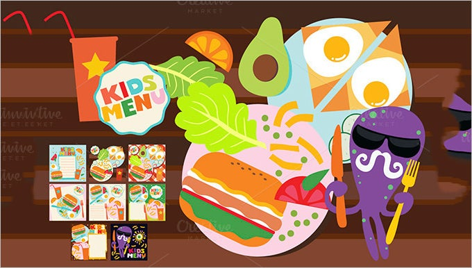 kids menu designs template download