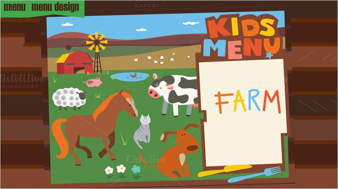 Kids Menu Template 25 Free PSD EPS Documents Download – Free Kids Menu Templates