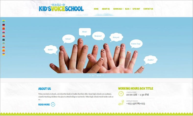 kids voice school student responsive wordpress theme – 43 788x475