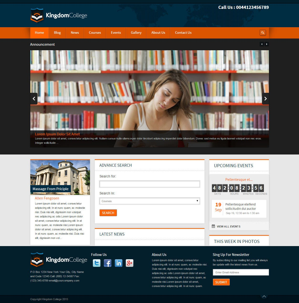 kingdom college educational wordpress theme