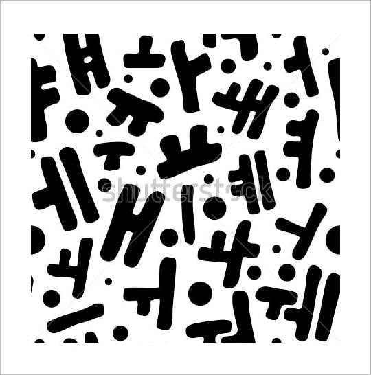 korean alphabet letters in true black