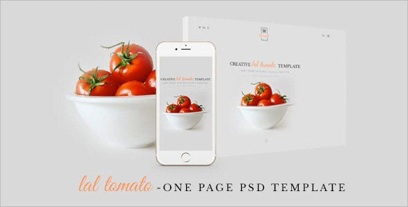lal tomato creative psd template