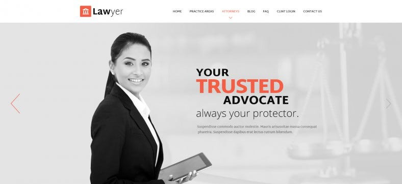 PSD Lawyer Template