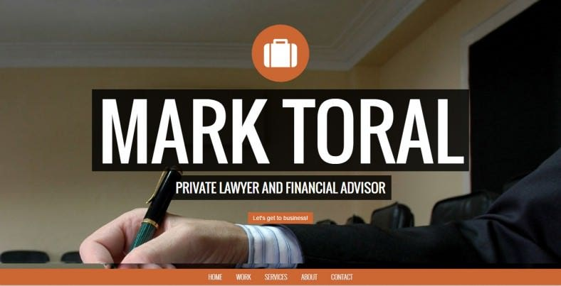 lawyer one page bootstrap theme 788x403